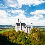 Het mooie Kasteel van meningsneuschwanstein (Beieren, Duitsland) stock afbeelding
