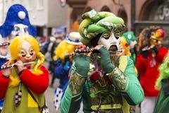 Het mooie kostuum van Bazel Carnaval 2018 stock foto