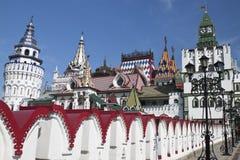 Het mooie Kremlin in Izmailovo Stock Foto's