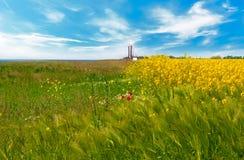 Het mooie landelijke landschap van de Lente Royalty-vrije Stock Afbeeldingen