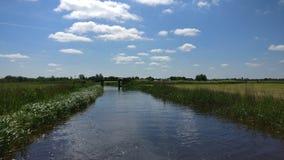 Het mooie landschap in Friesland stock afbeeldingen