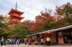 Het mooie landschap van de beroemdste toeristenvlek in Kyoto Stock Foto's
