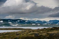 Het Mooie landschap van Noorwegen bij de zomer Stock Afbeelding