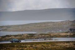 Het Mooie landschap van Noorwegen bij de zomer Stock Foto's
