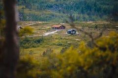 Het Mooie landschap van Noorwegen bij de zomer Royalty-vrije Stock Afbeeldingen