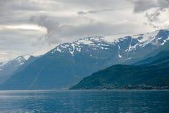 Het Mooie landschap van Noorwegen bij de zomer Stock Fotografie