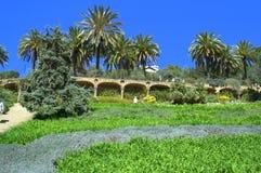 Het mooie landschap van parkguell, Barcelona royalty-vrije stock afbeeldingen