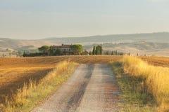 Het mooie landschap van Toscanië stock fotografie