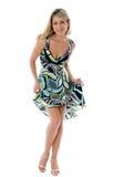 Het mooie maniervrouw dansen Stock Foto's