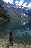 Het mooie Meer van de Berg stock fotografie