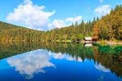 Het mooie meer van Laghi Di fusine Stock Foto's