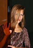 Het mooie meisje. stock foto