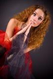 Het mooie meisje bidden Stock Foto
