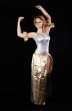 Het mooie meisje dansen Royalty-vrije Stock Afbeeldingen