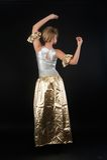 Het mooie meisje dansen Royalty-vrije Stock Fotografie