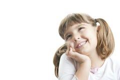 Het mooie meisje denken Stock Foto's