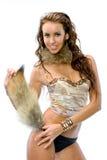 Het mooie meisje in een dansend kostuum royalty-vrije stock fotografie