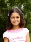Het mooie meisje glimlachen Stock Fotografie
