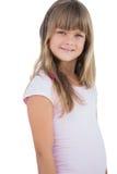 Het mooie meisje glimlachen Stock Foto's