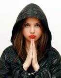 Het mooie meisje mediteren Stock Afbeelding
