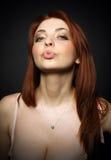Het mooie meisje met grote borst Royalty-vrije Stock Fotografie
