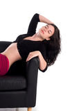Het mooie meisje ontspannen Royalty-vrije Stock Fotografie