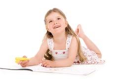 Het mooie meisje schilderen Stock Fotografie