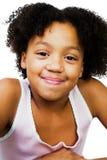 Het mooie meisje smirking Stock Afbeeldingen
