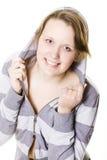 Het mooie meisje stellen Stock Foto