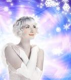 Het mooie meisje van de Engel Stock Afbeeldingen
