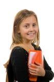 Het mooie Meisje van de School met boeken en rugzak Royalty-vrije Stock Foto's
