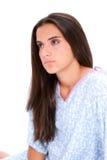 Het mooie Meisje van de Tiener in het Schreeuwen van de Toga van het Ziekenhuis Stock Afbeeldingen