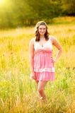 Het mooie Meisje van de Tiener op Gebied Royalty-vrije Stock Fotografie
