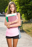 Het mooie meisje van de tienerstudent. Stock Fotografie