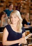 Het mooie Meisje van de Universiteit Stock Afbeelding
