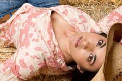 Het mooie Meisje van het Land stock afbeelding
