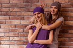 Het mooie meisjes stellen Stock Fotografie