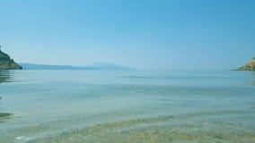 Het mooie Micro- strand van Aselinos op Skiathos-eiland in Griekenland, de zomerdag royalty-vrije stock afbeeldingen