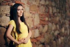 Het mooie Middeleeuwse Portret van de Prinses fairytale Fantasie stock fotografie