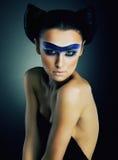 Het mooie model van het meisjesHaar - heldere make-up Stock Fotografie