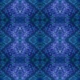 Het mooie naadloze oostelijke patroon van de tapijtdecoratie, abstract ornament van ronde en vierkante of ruitelementen De textuu Stock Afbeeldingen