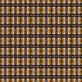 Het mooie naadloze oostelijke patroon van de tapijtdecoratie, abstract ornament van ronde en vierkante of ruitelementen De textuu Royalty-vrije Stock Afbeelding