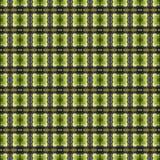 Het mooie naadloze oostelijke patroon van de tapijtdecoratie, abstract ornament van ronde en vierkante of ruitelementen De textuu Stock Foto