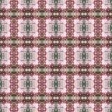 Het mooie naadloze oostelijke patroon van de tapijtdecoratie, abstract ornament van ronde en vierkante of ruitelementen De textuu Royalty-vrije Stock Fotografie