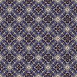 Het mooie naadloze oostelijke patroon van de tapijtdecoratie, abstract ornament van ronde en vierkante of ruitelementen De textuu Royalty-vrije Stock Foto