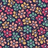 Het mooie naadloze patroon van de bloemkrabbel Royalty-vrije Stock Afbeeldingen