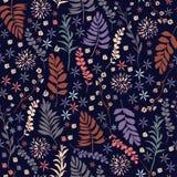 Het mooie naadloze patroon van de Vrijheidsbloem, in in klein-sca Stock Foto