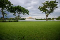 Het Mooie Openbare Park Royalty-vrije Stock Afbeelding