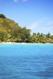 Het Mooie overzees en de toevlucht in Bora Bora Island, POLYNESIA stock fotografie
