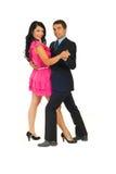 Het mooie paar dansen Royalty-vrije Stock Foto's